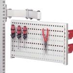Pöörlev tööriistapaneel (perfo) ja R konksud